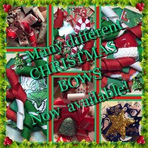 Girls Handmade Christmas Bows